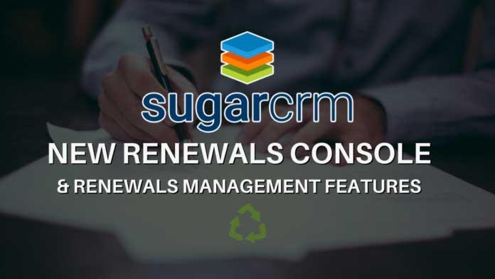 sugarcrm renewals console